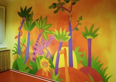 Džungle pokoj - spolupráce s J. Pirklovou