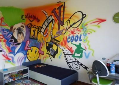 GRAFFITI POKOJ - spolupráce s J. Pirklovou
