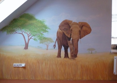 Safari pokoj - spolupráce s J. Pirklovou
