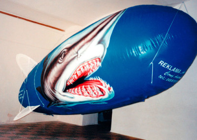 nafukovací vzducholoď žralok